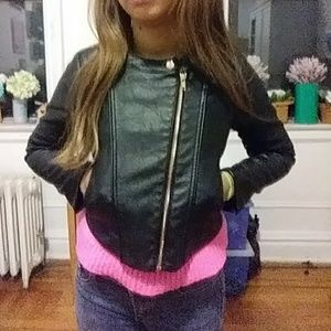 H&M Jackets & Coats - Black Faux leather jacket